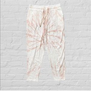 Free People NSF tie dye slouchy straight leg pants